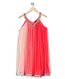 Twisha Crush Embroidered Kurti - Pink