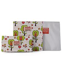 Sugar Booger Owl Print Lunch Snack Sacks - White