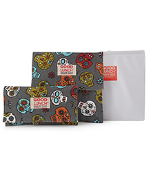 Sugar Booger Multi Print Lunch Snack Sacks - Grey