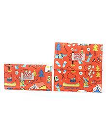 Sugar Booger Printed Lunch Snack Sack - Orange