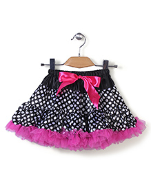 Wenchoice Polka Dot Tutu Skirt - Pink & Black