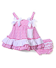 Wenchoice Frilled Dress With Bloomer - Pink