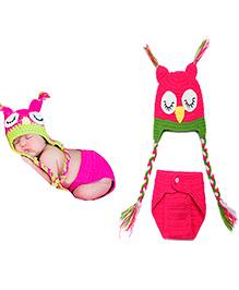 The Original Knit Bird Crochet Photo Prop - Pink