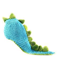The Original Knit Dinosaur Crochet Photo Prop - Blue