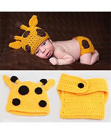The Original Knit Baby Deer Crochet Photo Prop - Yellow