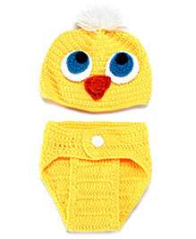 The Original Knit Baby Chick Crochet Photo Prop - Yellow