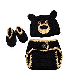 The Original Knit Bear Crochet Photo Prop - Dark Brown