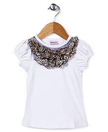 Wenchoice Top With Ruffled Neckline - White