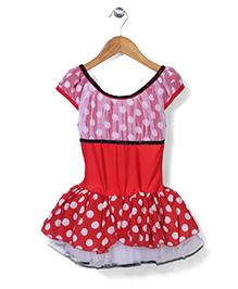 Wenchoice Polka Dot Print Dress - White & Red