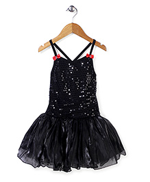 Wenchoice Classy Sequin Work Dress - Black
