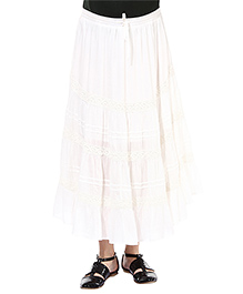 Oxolloxo Maternity A-line Skirt With Lace Details - White