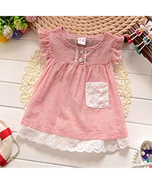 Adores Printed Baby Dress - Pink