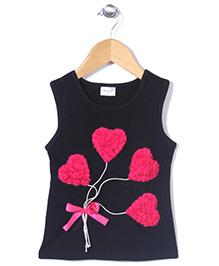 Wenchoice Heart Print Top - Black