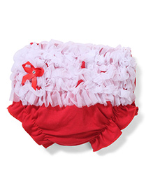 Wenchoice Ruffle Baby Bloomer - Red & White