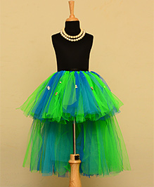 TU Ti TU High Low Tutu Skirt - Green & Blue