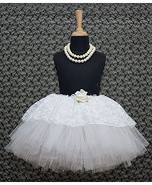 TU Ti TU Diva Tutu Skirt With Lace - White