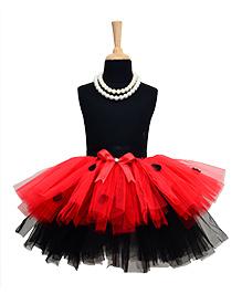 TU Ti TU 2 Layered Tutu Skirt - Red & Black