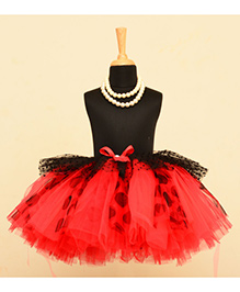 TU Ti TU Dot Print Tutu Skirt - Red