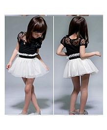 Tickles 4 U  Fit & Flare Dress -  Black & White