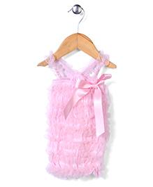 Wenchoice Pretty Ribbon & Ruffle Dress - Light Pink