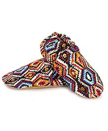 Skips Aztec Slip-On Jootie Booties - Multicolour