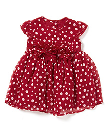 Chicabelle Dress With Polka Dots - Red & White