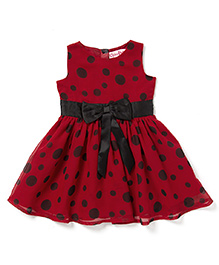 Chicabelle Baby Dress With Polka Dots - Red & Black