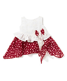 Chicabelle Girls Dress With Polka Dots - Red & White