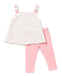 Chicabelle Baby Girls Top & Legging Twin Set - Pink