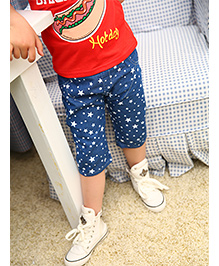 Pre Order: Petite Kids Boys Slim Fit Denim Capri - Blue