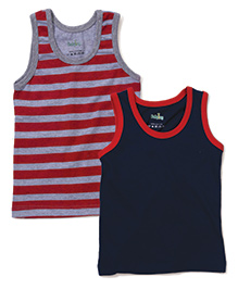 Babyhug Sleeveless Vest Set of 2 - Grey And Navy