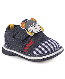 Cute Walk by Babyhug Casual Shoes Cat Face Applique - Blue