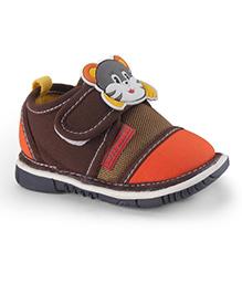 Cute Walk by Babyhug Casual Shoes Cat Applique - Brown Orange