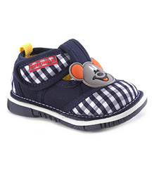 Cute Walk by Babyhug Casual Shoes Monkey Applique - Navy Blue