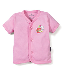 Child World Half Sleeves Vest With My Little Home Print - Pink