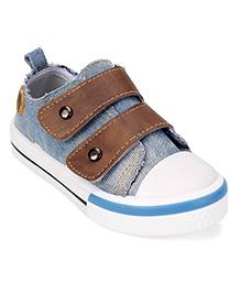 Cute Walk by Babyhug Canvas Shoes - Light  Blue