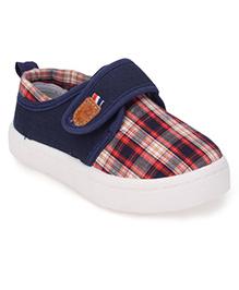 Cute Walk by Babyhug Casual Shoes Checks Print - Navy Blue