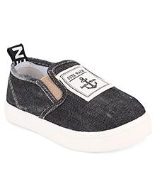 Cute Walk by Babyhug Slip-On Shoes Anchor Patch - Black