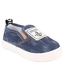 Cute Walk by Babyhug Slip-On Shoes Anchor Patch - Navy Blue