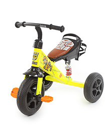 Flyers Bay Troopers Super Tricycle With Shock Absorbers - Yellow And Black