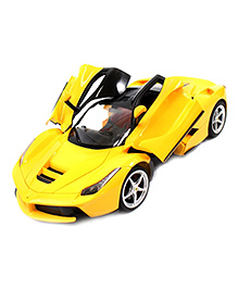 Flyers Bay Rechargeable Ferrari Style Remote Control Car With Fully Function Doors - Yellow