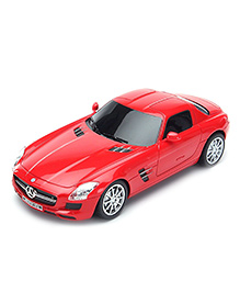 Flyers Bay Licenced Remote Control Car Mercedes Benz SLS AMG Full Function Car Toy With Shock Absorber And LED Lights - Red
