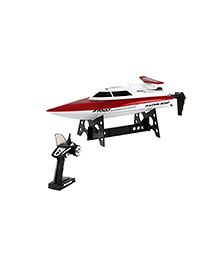 Flyers Bay 4 Channel High Speed Racing Remote Control Boat Toy -  Red And White