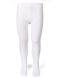 Mustang Footed Plain Tights Stockings - White