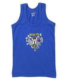 Cucumber Sleeveless Vest Ben 10 Print - Blue
