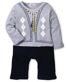 Adores Romper With Tie Design - Grey