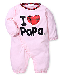 Adores I Love My Daddy Print Romper - Pink