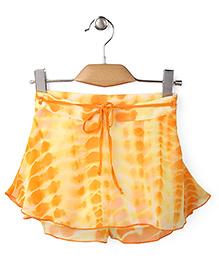 Gini & Jony Skirt With Fabric Belt - Orange