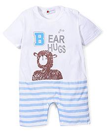 Adores Baby Romper Bear Hugs Print - Blue