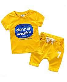 Mauve Collection Candy Color Special 2 Piece Set - Yellow